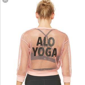 NWT Alo Yoga Powder Pink Pullover